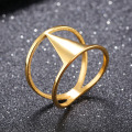 Fashion Stainless Steel 18k Gold Plated Ring Wholesale