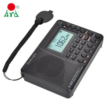 HanRongDa HRD-603 Portable Radio Pocket AM/FM/SW/BT/TF Pocket Radios USB MP3 Digital Recorder Support TF Card Bluetooth Speaker