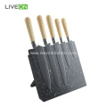 Stainless Steel Kitchen Knife Set with Magnetic Block
