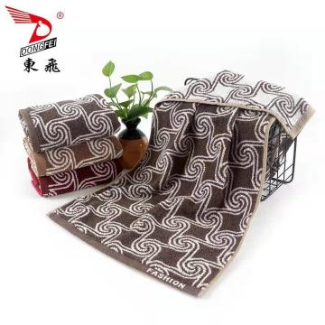 high quality yarn dyed face towel