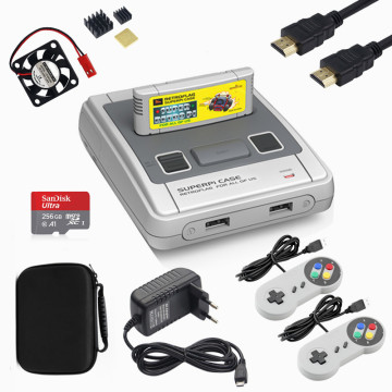 Retroflag HDMI Video Game Console SUPERPi Case For Raspberry Pi 3B DIY TV Game Player With Gamepad And 64G Support Four Players