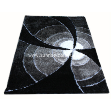 Polyester Silk Shaggy Blading Color Design Rug