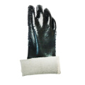 Black Gauntlet Single Dipped PVC Glove
