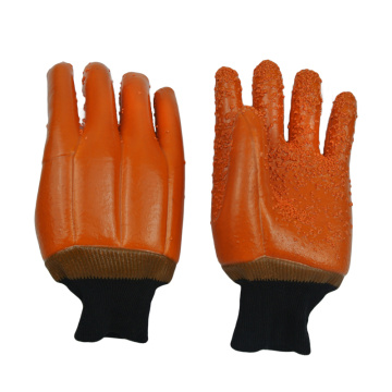 Fluorescent brown Palm particles gloves