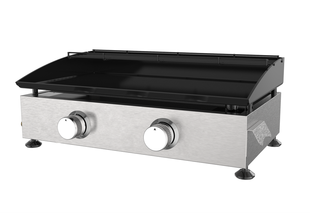 2 Burner Portable Gas Griddle Grill