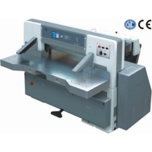 program control single hydraulic double guide paper cutting machine
