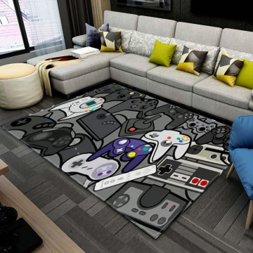 Anime Gamer Controller Kids Play Area Rugs Child Game Floor Mat Cartoon Super Mario Pattern 3D Printing Carpets for Living Room