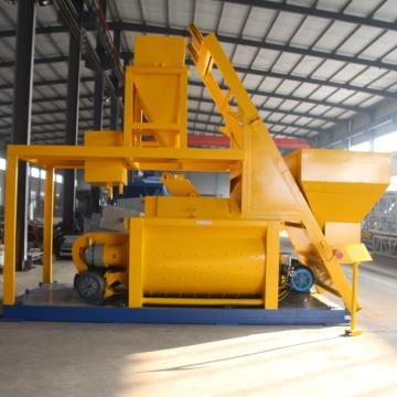 Stationary 1 cubic meter twin-shaft concrete mixer