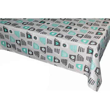 Pvc Printed fitted table covers Quilted Table Linens