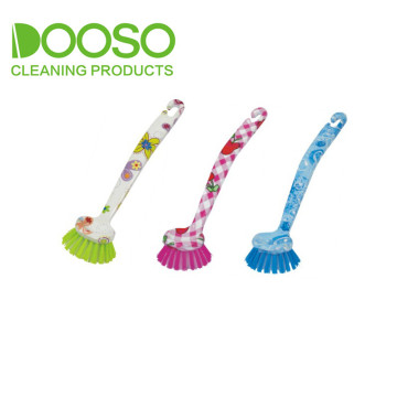 Flower Printed Kitchen Pot Cleaning Brush DS-206Y