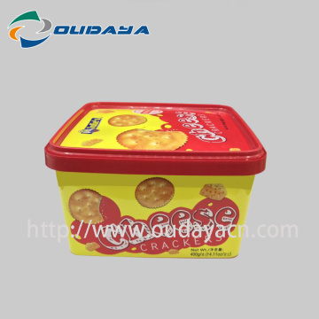 Food Grade Plastic Container Biscuit with Lid