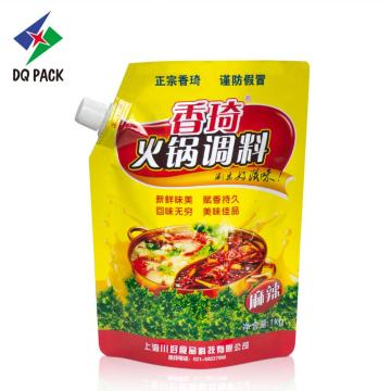 Guangdong DQ China suppliers customized stand up liquid packaging with spout pouch