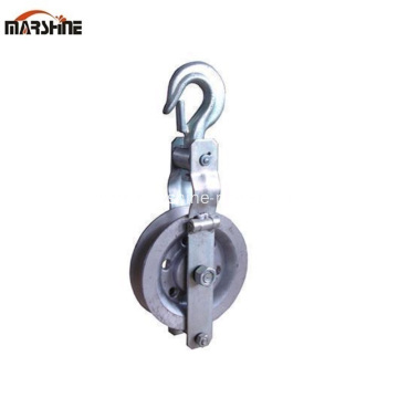 Hook Sheave Conductor Aluminum Pulley Block