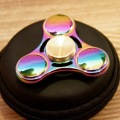 Newest Hand Spinner Metal Rainbow Triangle Fidget Spinner