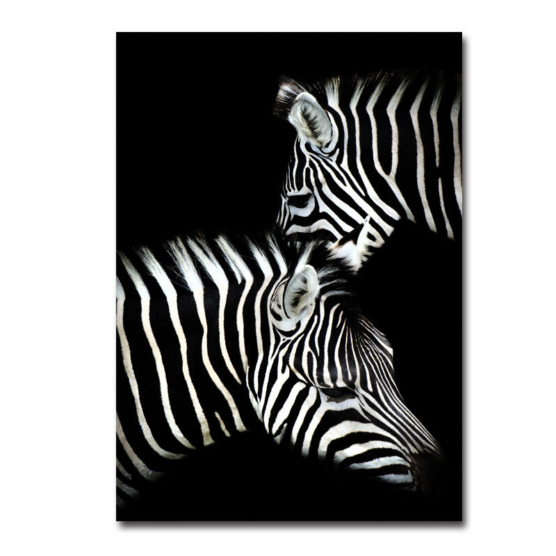Black white animals oil painting canvas art poster and photo wall pictures of living room decoration home decor canvas painting
