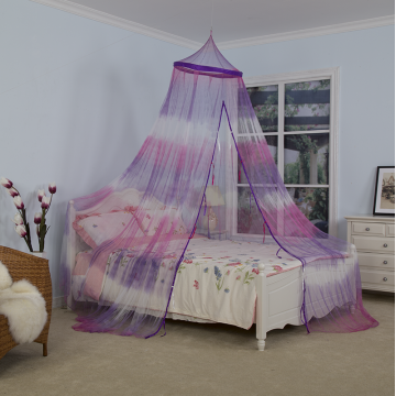 Fuchsia Tie-dyeing Umbrella Mosquito Net Bed