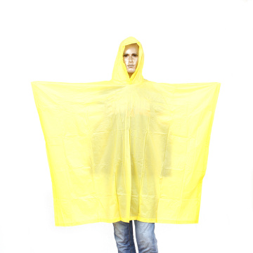 yellow 6P eco-friendly pvc rain poncho