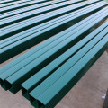 Powder Coated Square Wire Fence Pipe Post