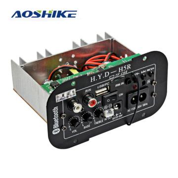AOSHIKE Subwoofer Amplifier Board Car Bluetooth Built-in Audio Amplifiers 12V 24V 220V For 5-8inch Speakers DIY