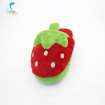 Cute cartoon strawberry plush winter slippers