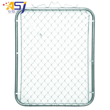 PVC Coated Used Chain Link Fence Gate