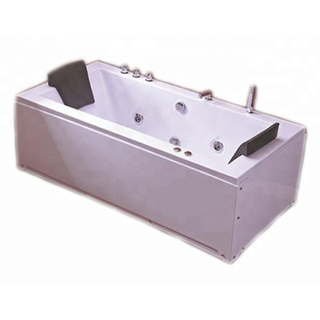 Double Sided Rectangular Massage Spa Bathtub