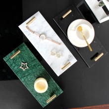 Natural Marble Trays Decorative Serving Tray Table Dinner Plates Dessert Dish Skin Care Product Storage Jewelry Display Plate