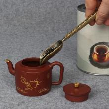 Copper Zinc Loose Leaf Tea Scoop Retro Style Tea Shovel Coffee Bean Scooper Measuring Spoon Tea Accessory
