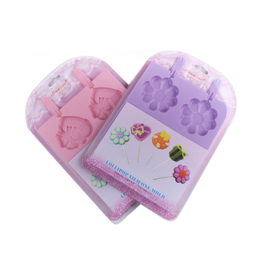 Flower Chocolate Lollipop Silicone Mold (12)