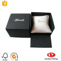 Black watch cardboard box with PU pillow