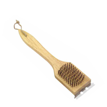 BBQ grill cleaning brush with scraper