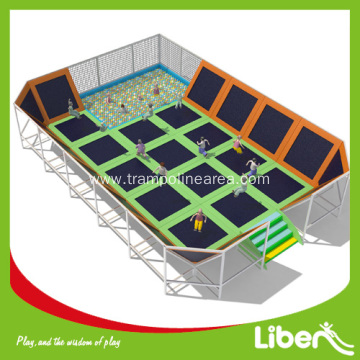 Big kids trampoline with enclosure