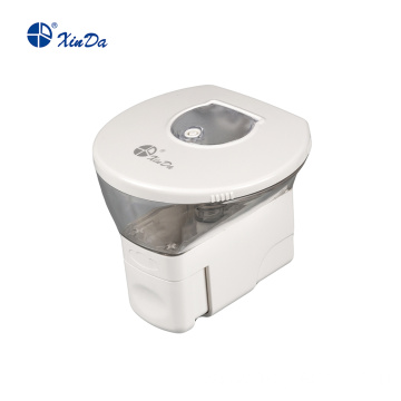 Drop-shaped soap dispenser with button
