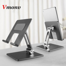 Vmonv Aluminum Foldable Desk Tablet Phone Stand Holder Mount for IPAD Air Pro 12.9 10.5 4 to 14 Inch Smartphone Tablet PC Stand