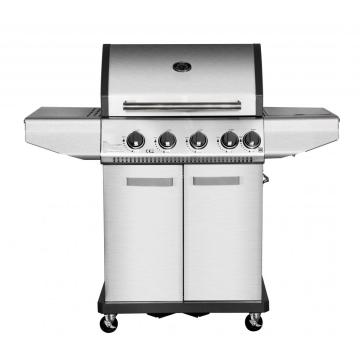 4 Burner Gas BBQ Grill with Side Burner