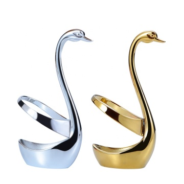 Swan Shape Stainless Fork Spoon Knife Base Holder