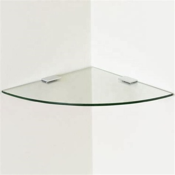 5mm 6mm 8mm Clear Tempered Corner Shelf Glass