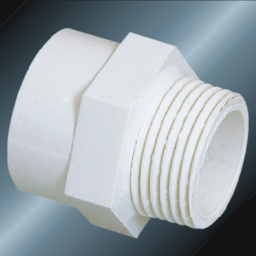 DIN PN10 Water Supply Upvc Male Adaptor White