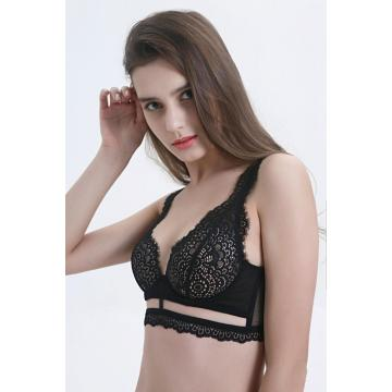 In-stock bondage lace mould cup bra bikini set