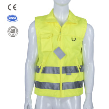 high visibility safety warning vest reflective