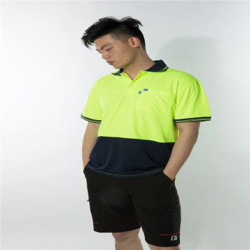 Fluorescent yellow color matching workwear