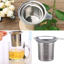 304 Stainless Steel Fine Mesh Filter Tea Infuser Reusable Metal Cup Tea Leaf Filter Sieve Tea Bag Holder Kitchen Drinkware