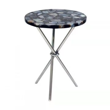 blue agate round table