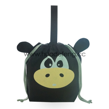 Animal Series Black Cow Non-woven Handle Gift Bags