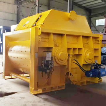 JS1500 large capacity double shaft  concrete mixer