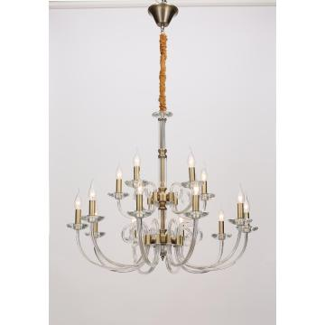 Living Room Project Design Glass Iron Chandelier