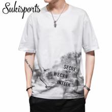 Men Custom Printed Fashion Short-sleeved Cotton T-shirts