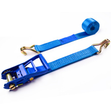 "2"" 6T 50mm Wholesale Heavy Duty Ratchet Buckle Cargo Lashing Straps With 2 Inch Double J Hooks"