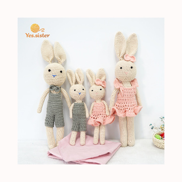 Wholesale Knitting Handmade Crochet Bunny Toy