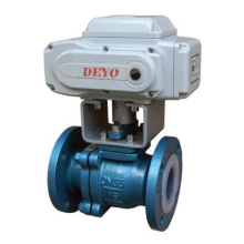Electric Flange Lining Fluorine Ball Valve